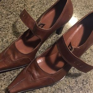 Franco Sarto Western inspired heels. 10M
